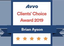 AVVO Clients Choice Award 2019 Brian Ayson